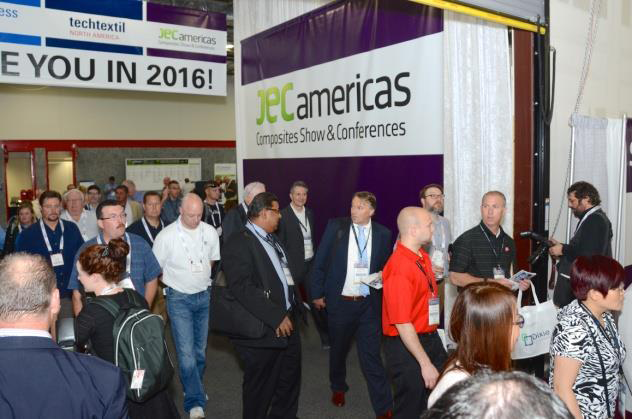 Crowd entering JEC Americas 2015. © JEC Group