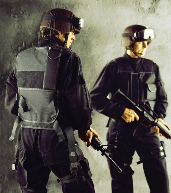 Police in ballistic vests. © Sonobond