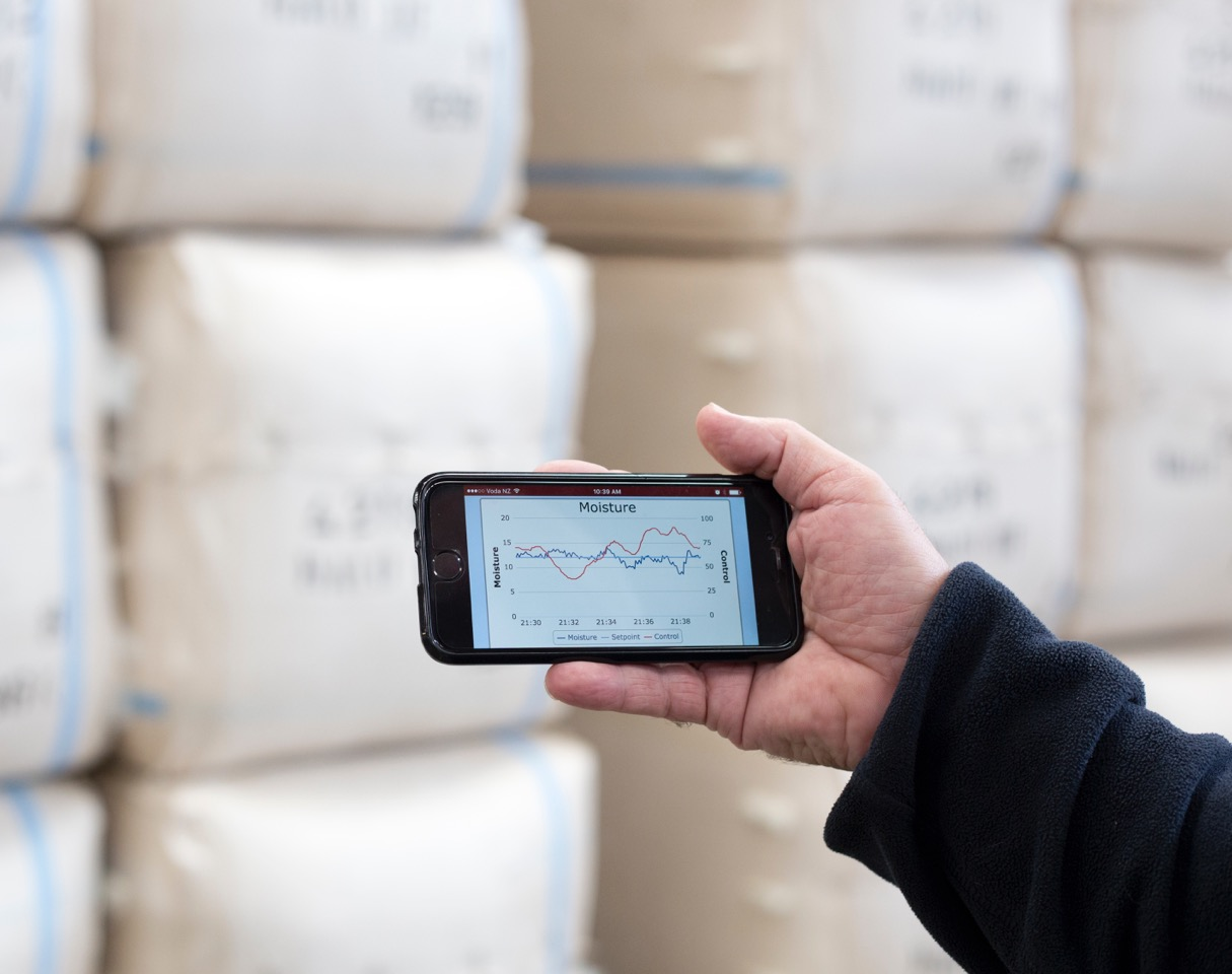 The App can keep track of multiple systems within the plant. © Streat Instruments