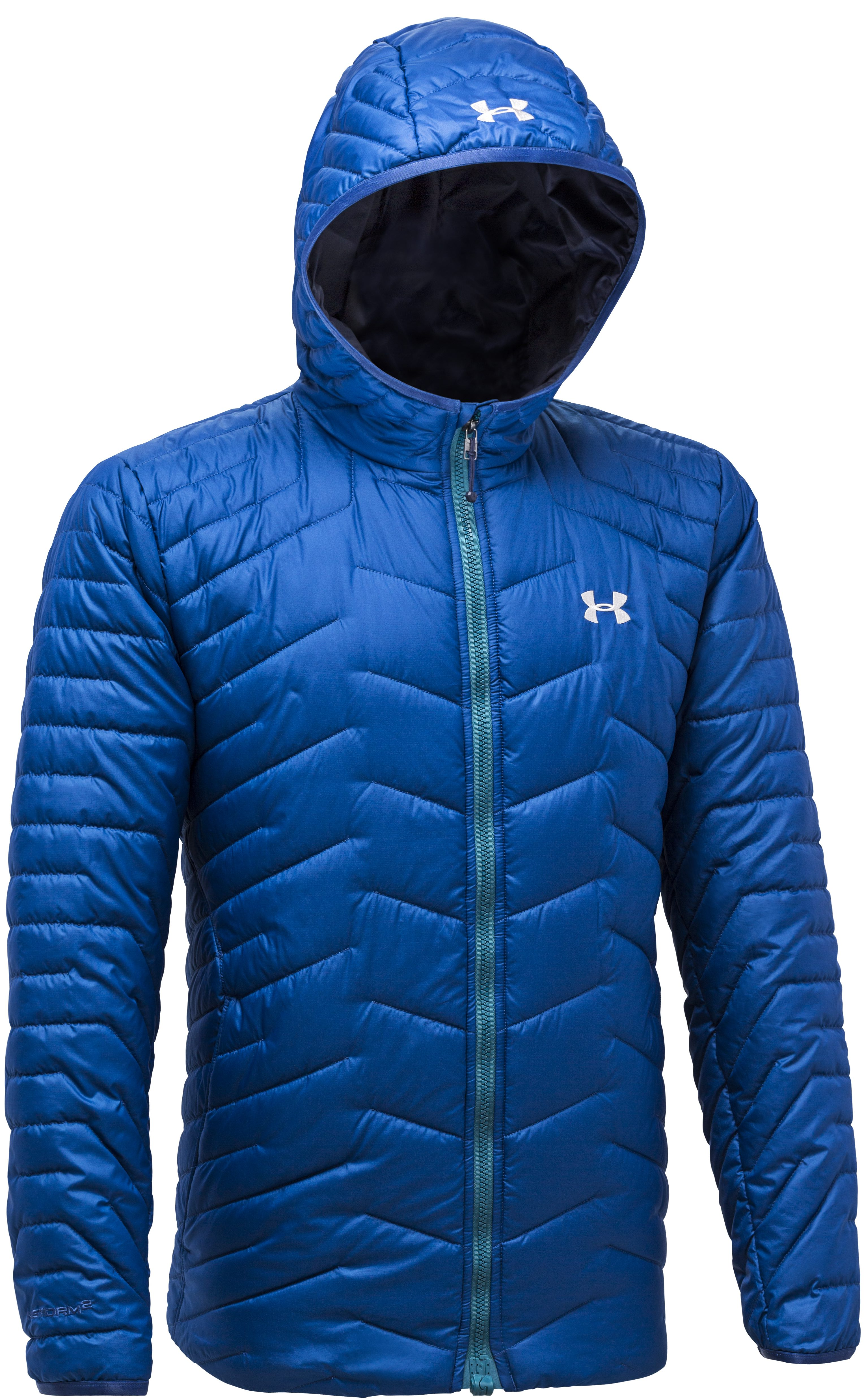 Under Armour Coldgear Reactor Hooded Jacket front. © Under Armour