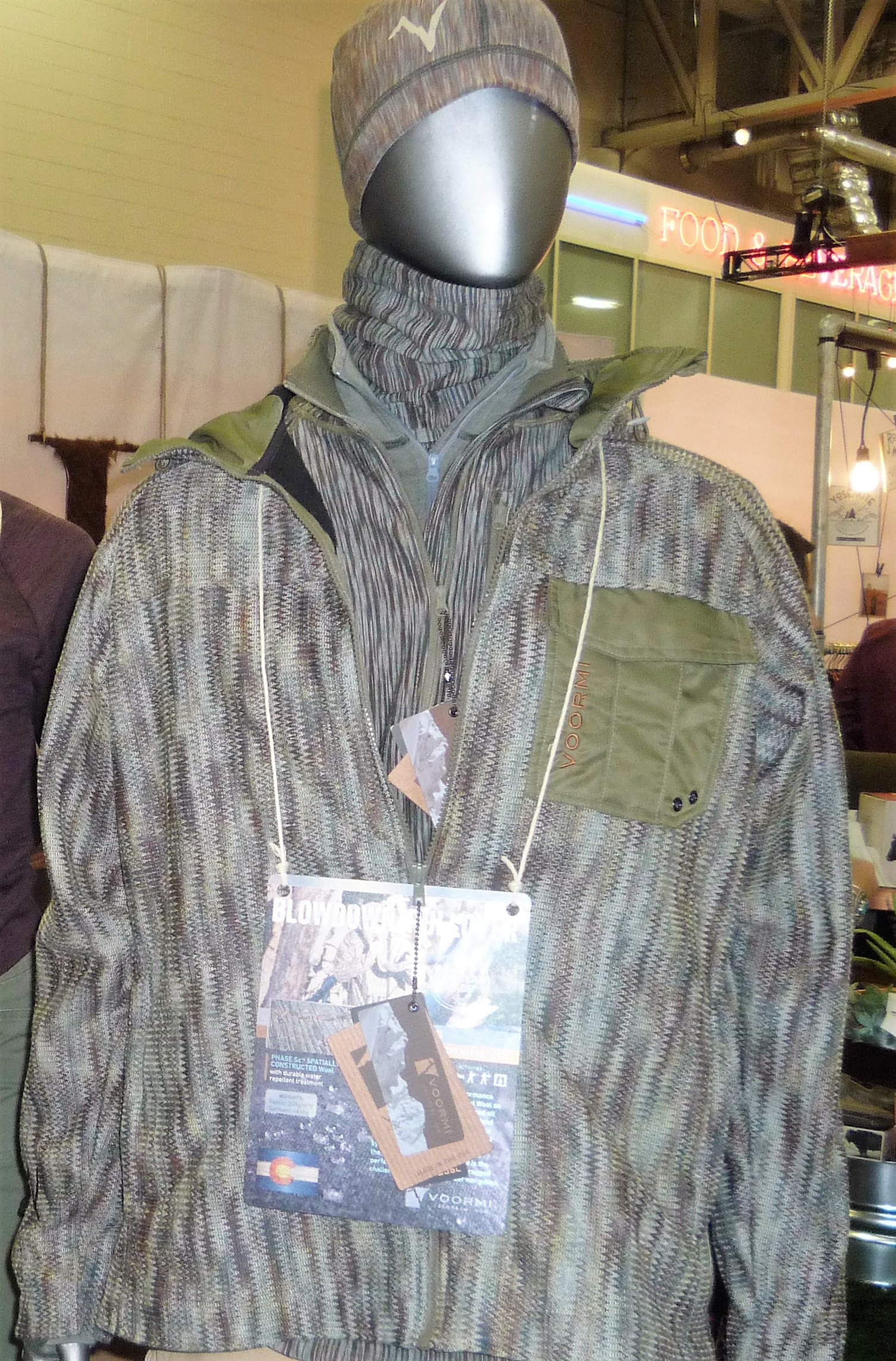 Voormi Rocky Mountain Merino knitted camo hunting kacket. © Voormi
