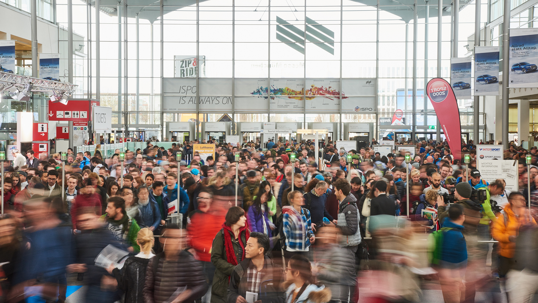 The 2016 edition of the trade fair welcomed more than 80,000 industry professionals from 120 countries. © ISPO Shows/ISPO Munich