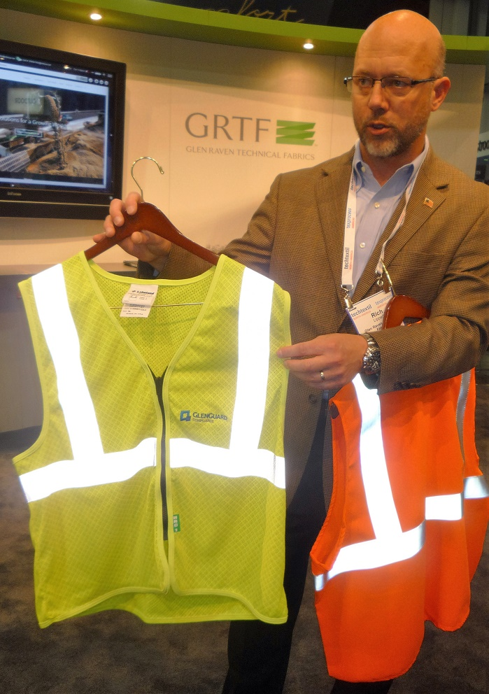 Rich Lippert, GRTF with new GlenGuard FR products. © Debra Cobb