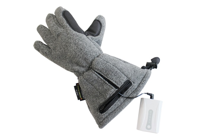Heated gloves with a battery. © Asiatic Fiber Corporation