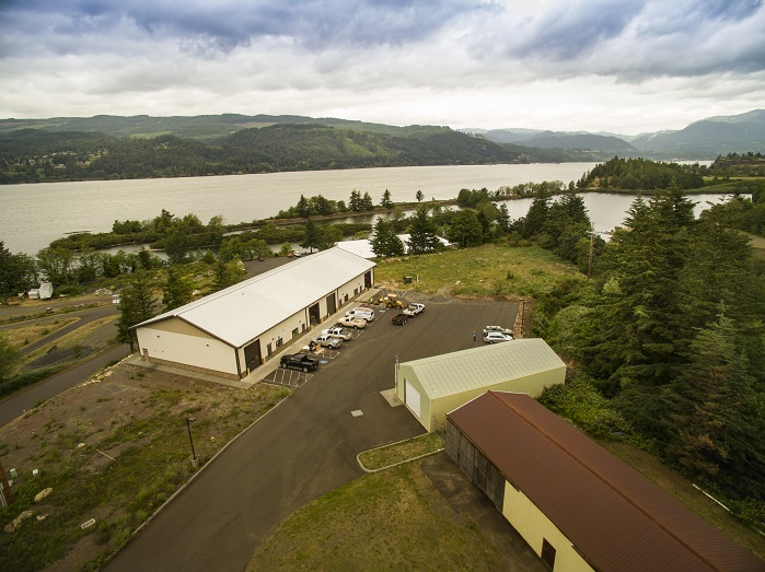 The Renewal Workshop's new 7500 sq ft factory in beautiful Cascade Locks, Oregon. © The Renewal Workshop