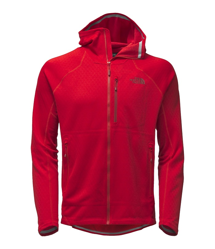 TNF Men's Progressor Fleece Hoodie Utilises its FuseForm technology. © Debra Cobb