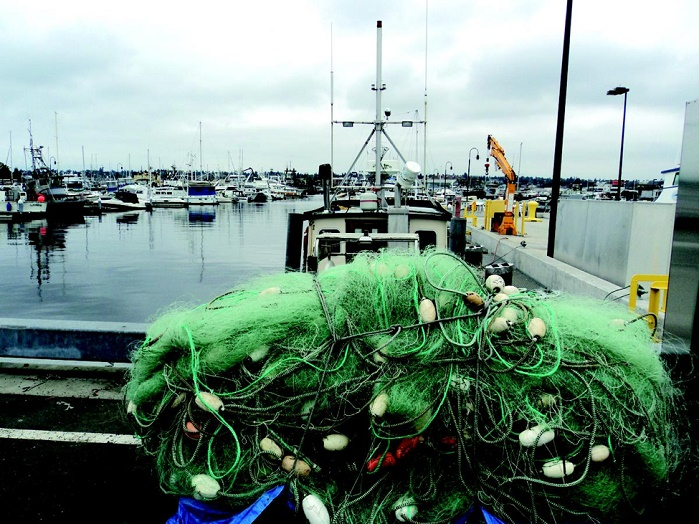 One of the sources of waste is fishing nets, especially the ones coming from the fish farming industry. © Aquafil