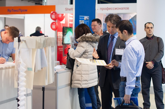 In 2016, 120 companies from 15 countries presented their equipment, technologies and products at Techtextil Russia. © Messe Frankfurt RUS/Elena Muzikantova