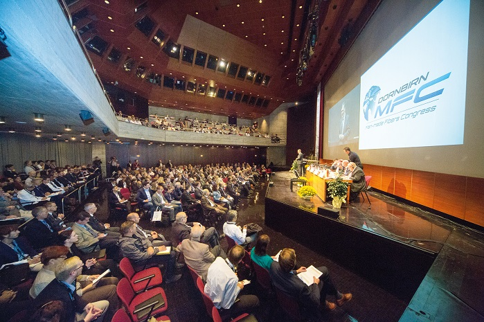 At Dornbirn-MFC, more than 800 participants from 30 countries were informed about the latest trends, developments and innovations, in more than 100 expert-lectures. © Dornbirn-MFC