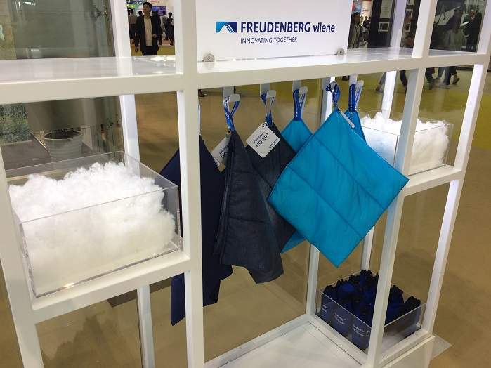 Freudenberg debuted the new Comfortemp Thermal Insulation, a range of advanced technology materials.