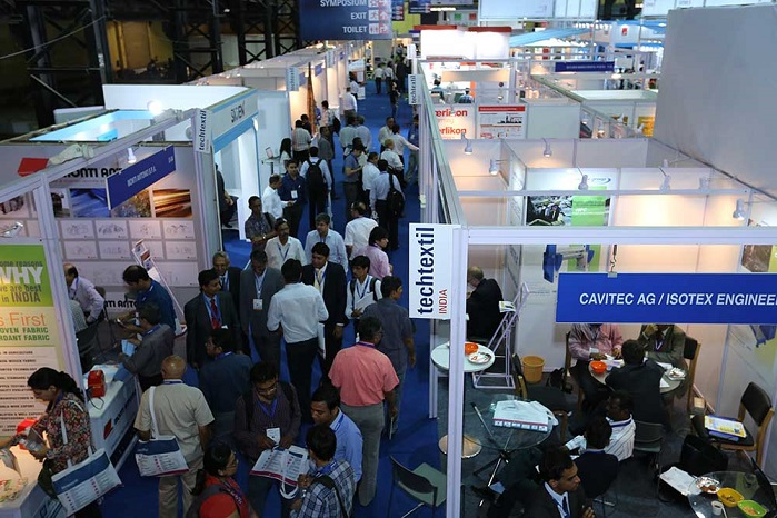 The 2015 Techtextil India edition brought together 158 exhibitors from 11 countries. © Messe Frankfurt / Techtextil India edition