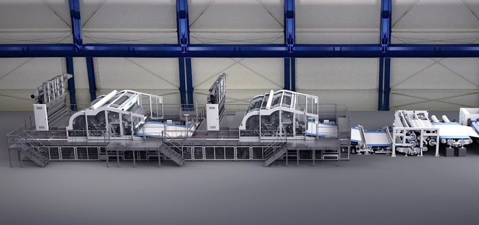Andritz neXline spunlace line with TT cards. © Andritz Group