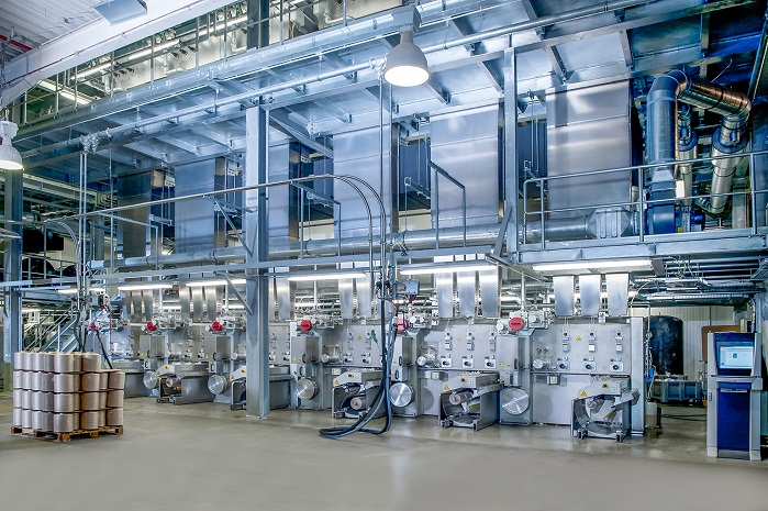 Oerlikon Neumag BCF Solution S+ system for the production of BCF yarn. © Oerlikon