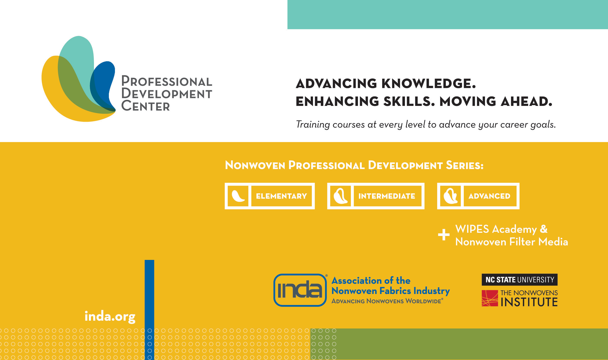 INDA is partnering with technical experts and professors at The Nonwovens Institute as well as with industry process technologists and development professionals to instruct the courses.