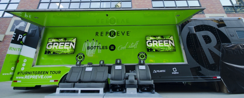 The Repreve Ultimate Sports Fan Experience is part of Unifi's national Repreve #TurnItGreen mobile tour. © Unifi