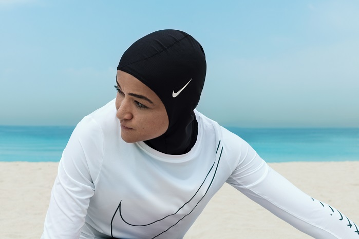 Nike Pro Hijab is made from stretchy and breathable polyester fabric. © Nike