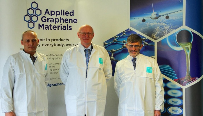 Lord Prior, of Brampton, visited Applied Graphene Materials, a leading producer of specialty graphene materials, on 2 March 2017. © Applied Graphene Materials