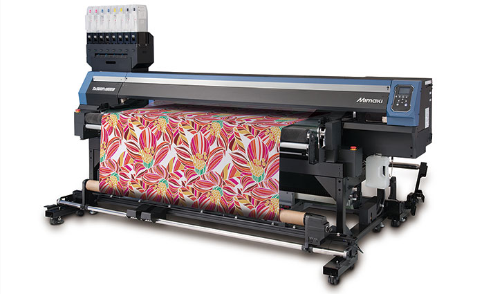The hybrid ink system for the Tx300P-1800 and Tx300P-1800B direct-to-textile printers will be commercially available in the summer of 2017. © Mimaki