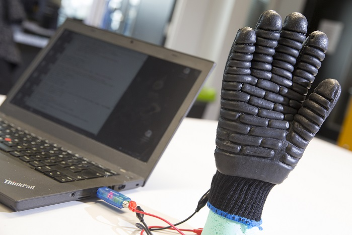 The e-glove prototype. © Nottingham Trent University