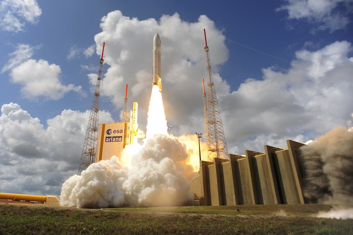Satellite launching rocket Ariane 5. © ESA_Stephane Corvaja 2016