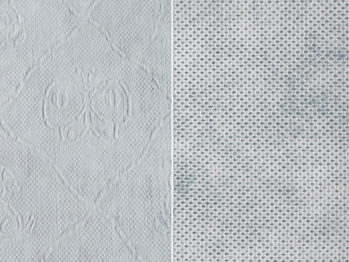 Structured and perforated wet-laid and spunlaced nonwoven. © Trützschler Nonwovens