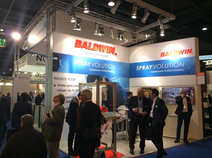 Baldwin stand at Techtextil. © Innovation in Textiles