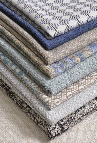 Nanotex aSure was developed to include a host of decorative yarns in an array of colours, textures, patterns, stripes and statement designs. © Sunbury Textiles/ Nanotex