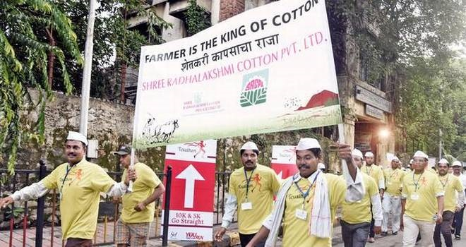 Cotton growing farmers participated in the run. © Sasmira Alumni Foundation