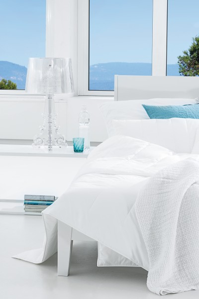 AllergoProtect – a trio of products consisting of mattress topper, duvet and pillow, which retain allergens in the filling and the cover, even under great mechanical strain. © CentaStar
