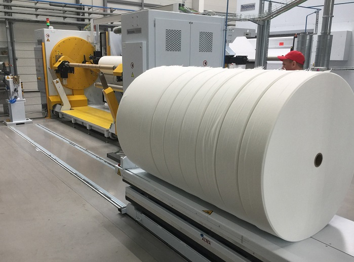 A finished roll ready for further processing. © Trützschler
