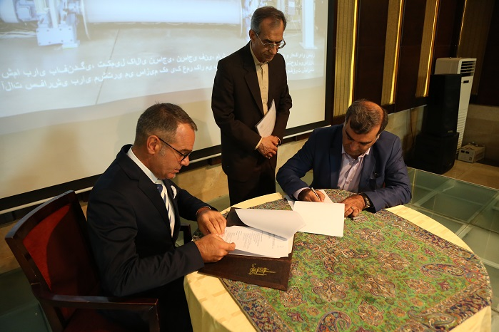 During the event, Santex Rimar Group signed an agreement with Yazd University. © Santex Rimar Group