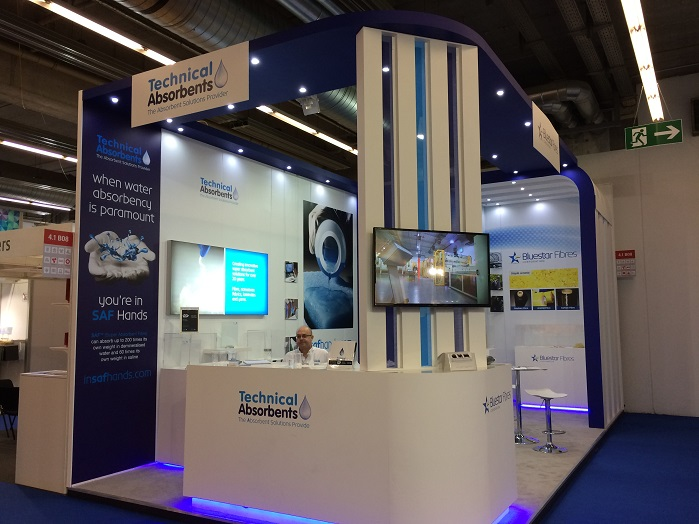Technical Absorbents stand at Techtextil, in Frankfurt. © Innovation in Textiles