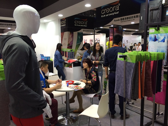 creora exhibiting at last year's event. © Innovation in Textiles
