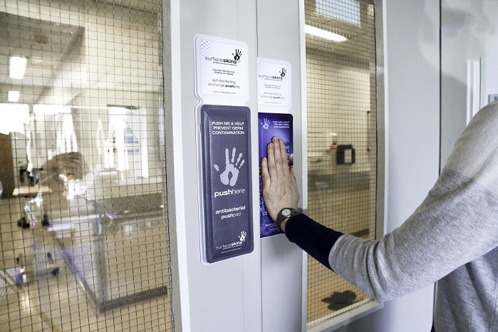 New textile keeps hospital door handles germ free
