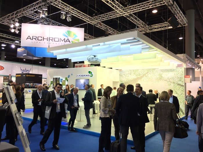 Archroma presenting its latest solutions at Techtextil in Frankfurt. © Innovation in Textiles