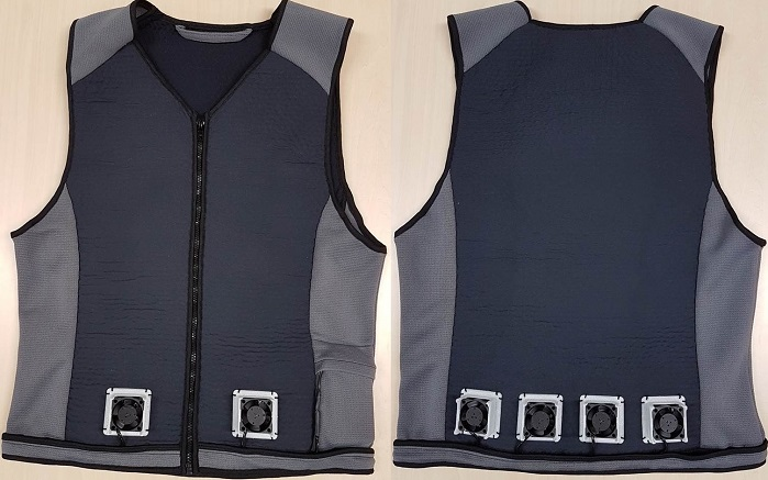 Cooling vest - front and back. © Teijin