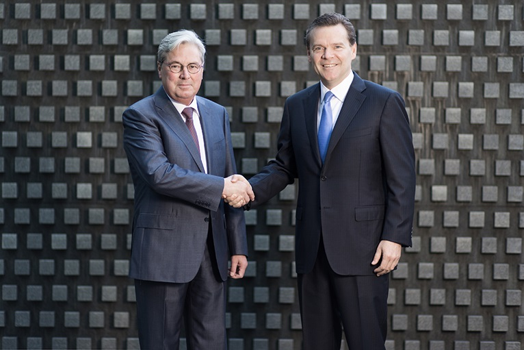Hariolf Kottmann, CEO of Clariant, and Peter R. Huntsman, President and CEO of Huntsman. © Clariant