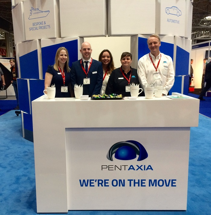 Pentaxia team at Advanceed Engineering Show, which took place in Birmingham, this week. © Pentaxia