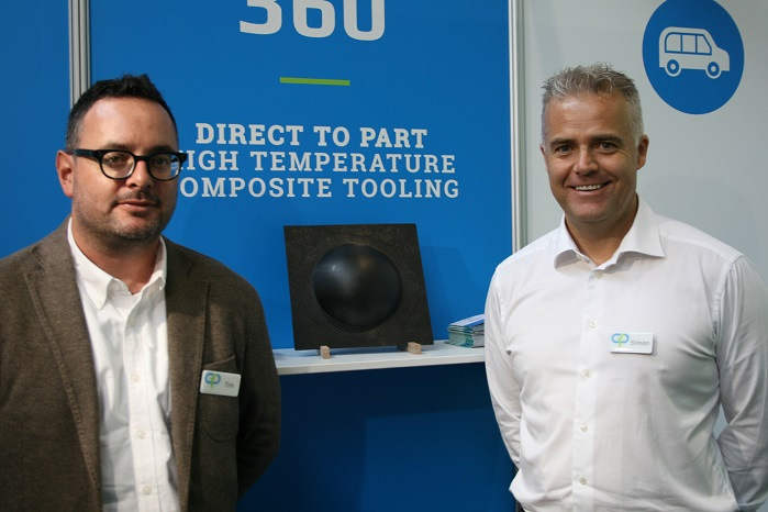 Global business development manager Tim Bastow and managing director Simon Price. © Carbon Fibre Preforms