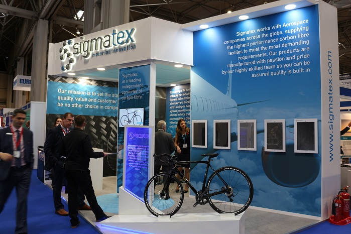 Sigmatex stand at Advanced Engineering Show last week. © Inside Composites