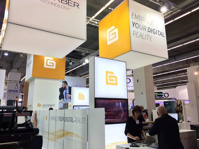 Gerber Technology's stand at Techtextil, which took place in Frankfurt, in May. © Innovation in Textiles