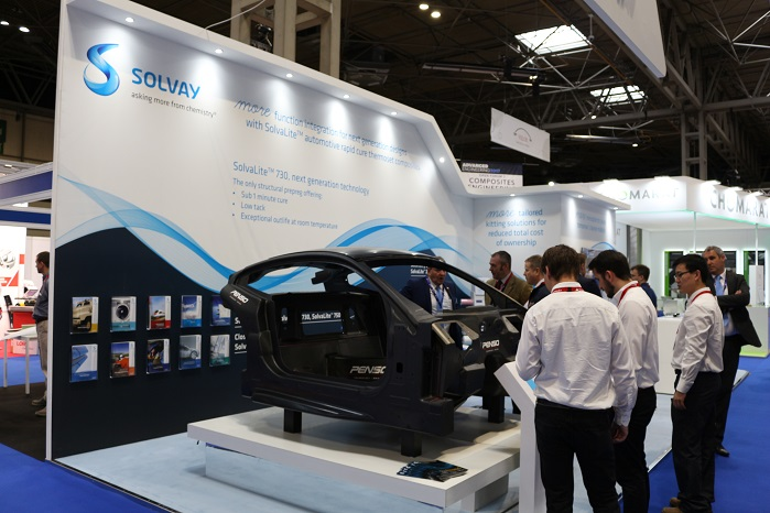 Solvay exhibited its capabilities at Advanced Engineering Show, which took place in Birmingham, last week. © Inside Composites