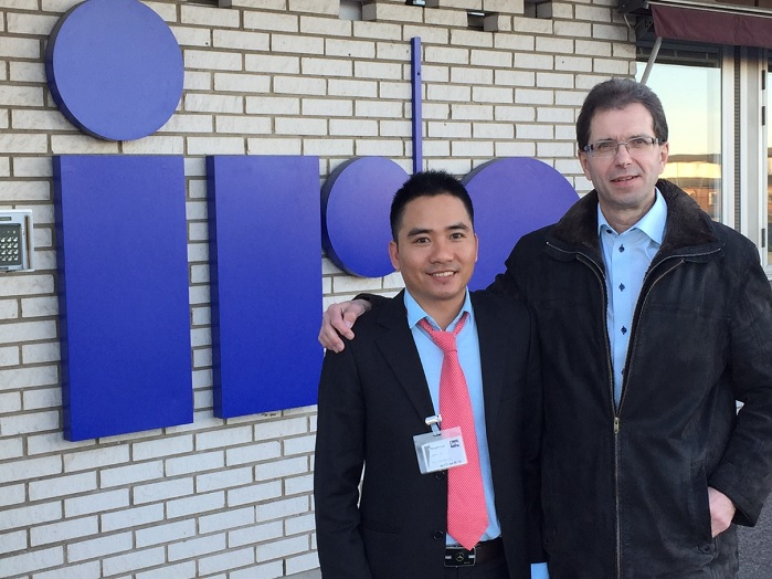 Thanh Tran Phuoct, Business Development Manager, TMAS Vietnam, and Mikael Äremann, General Manager, IRO AB, and President of TMAS. © TMAS