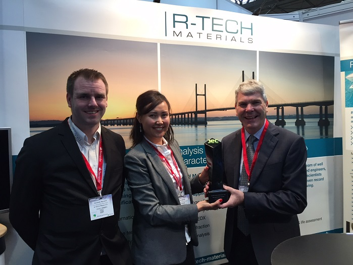 Whilst at the show R-Tech Materials was also officially presented with its JEC Asia Innovation award. © R-Tech Materials