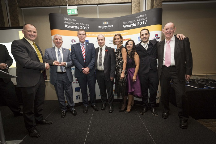 The award was presented on behalf of the Northern Automotive Alliance at its annual awards dinner last week. © Sigmatex
