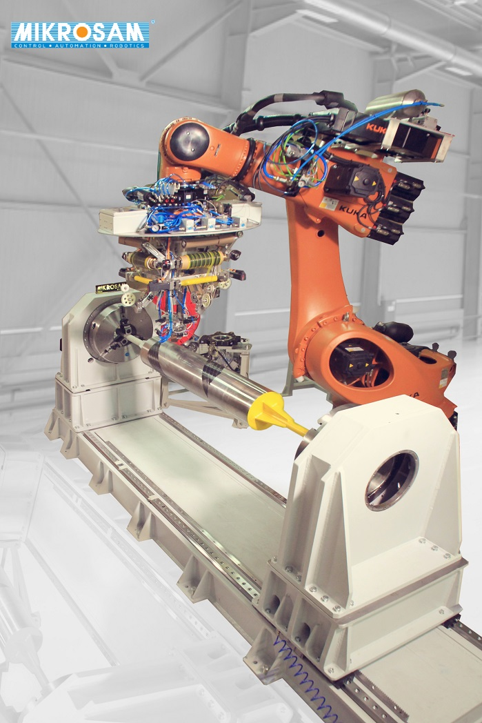 AFP Robot Machine: thermoset and thermoplastic prepreg placement. © Mikrosam