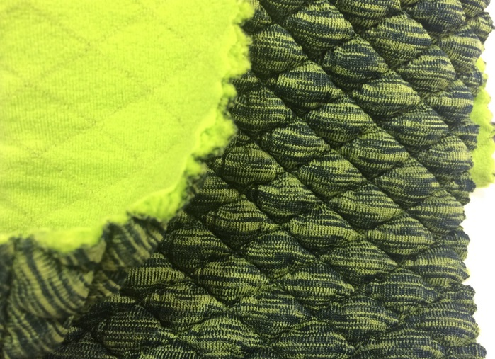 WidePlus quilted Merino and polyester fabric at Performance Days Munich. © Anne Prahl