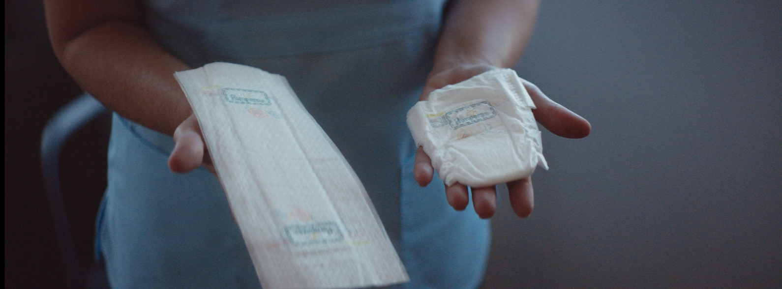 Pampers introduces the first-of-its-kind NICU Flat Diaper for babies whose skin is too sensitive to wear a traditional diaper. © Business Wire/P&G