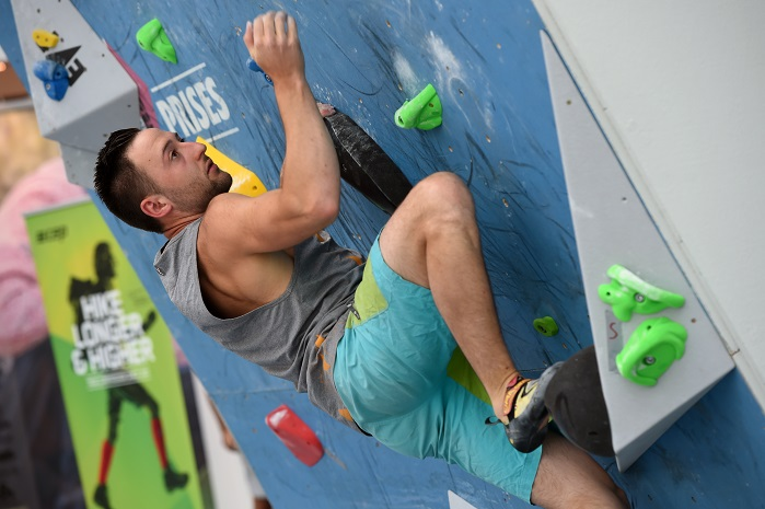 For the first time ever, the bouldering competition will be open to end consumer spectators in a separate competition arena. © OutDoor