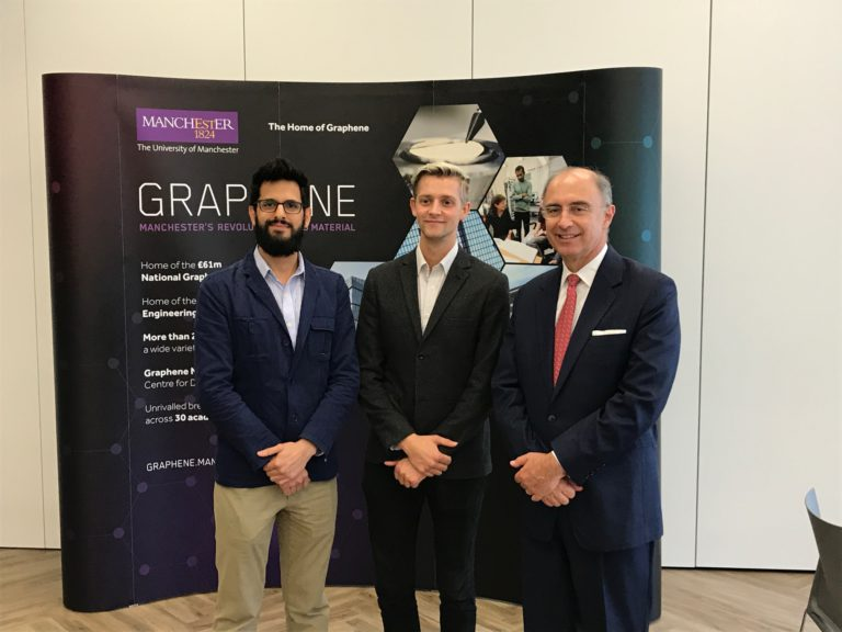 Sebastian Leaper won the Eli and Britt Harari Graphene Enterprise Award last year. © The University of Manchester